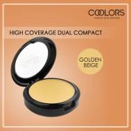 COOLORS Dual Compact Powder Golden Beige 10g (LSM75)