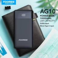 Foomee 10000mAh Power Bank (Black), (AG10)