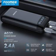 Foomee 20000mAh Power Bank (Black), (AG20)