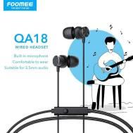 Foomee Wired Headset (QA18), (Black)