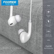 Foomee Wired Headset (QA30), (White)