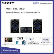 SONY High Power Audio DVD System MHC-M40D