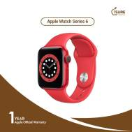 Apple Watch Series 6 (40mm), Product Red Aluminum Case with Red Sport Band (M00A3)