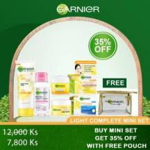 GARNIER LIGHT COMPLETE WHITENING MINI SET ( FOAM, DAY, NIGHT & MICELLAR) 35% OFF