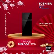 TOSHIBA 2Door Refrigerator 413.8L (Inverter) ,Glass Black,Glass Door (GRA-46KDZ(XK9)