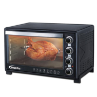 PowerPac 60L ELECTRIC OVEN WITH ROTISSERIE & CONVECTION FUNCTIONS , 2 TRAYS & WIRE MESH (PPT60)