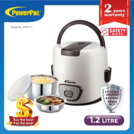 PowerPac 1.2L ELECTRIC LUNCH BOX WITH FOOD GRADE STAINLESS STEEL INNER POT ( PPRC113)
