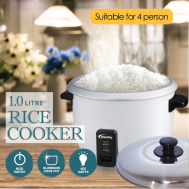 PowerPac 1L Rice Cooker with Aluminium Inner Pot (PPRC4)