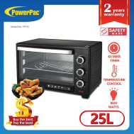 PowerPac 25L ELECTRIC OVEN WITH 1 SETS OF BAKING TRAY AND GRILL AND HEATING SELECTOR (PPT25)